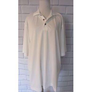 NWT Pebble Beach White Polo Short Sleeve Shirt